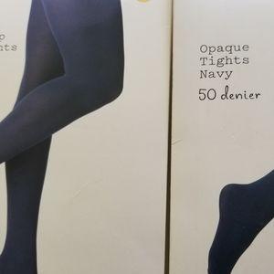 a new day Accessories - NAVY TIGHTS BUNDLE OF TWO NEW